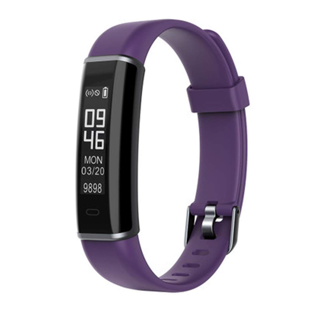 YWY Smart Bracelet Watch ID130HR Smart Bracelet Bluetooth Heart Rate Sleep Monitoring Sports Step Smart Wear Calorie Step Counter Fitness Watch for Android Phones,Purple