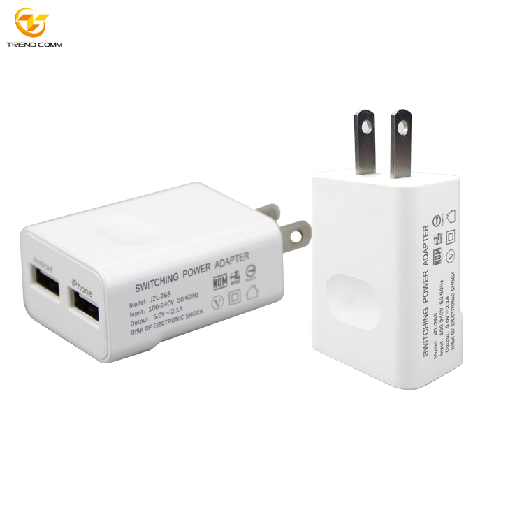 Universal 2 Port Multi Travel Fast USB Cable Mobile Phone Charger