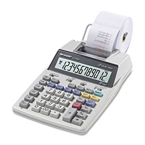 "Sharp Electronics 12-Digit Calculator,2-Color Printing,5-1/5""x8-1/2""x2-1/8"" SKU-PAS972312"