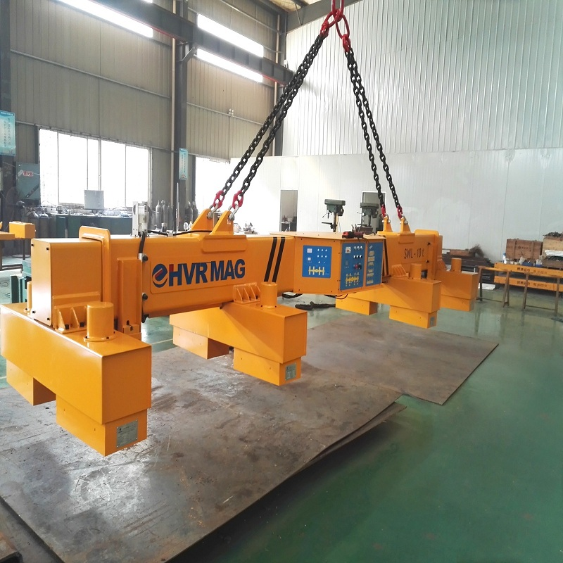China high quality 10 Ton telescopic permanent electromagnet lifting system