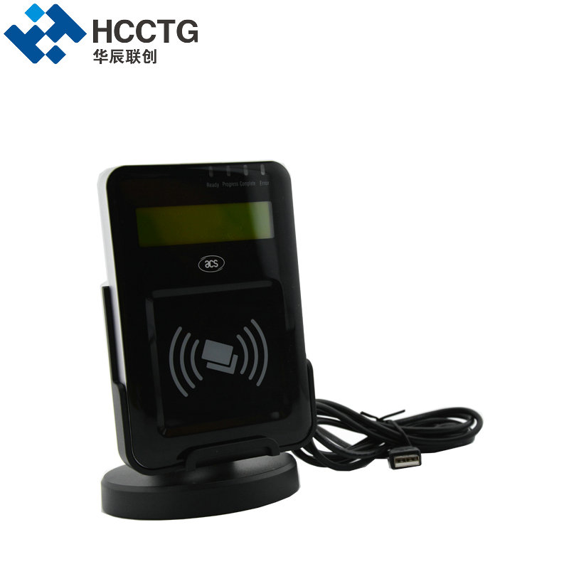 13.56 MHz Visual Vantage Contactless USB RFID NFC Card Reader with LCD ACR1222L