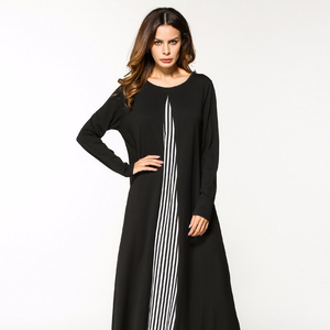 Hot selling stock latest dubai black abaya models clothes for sale