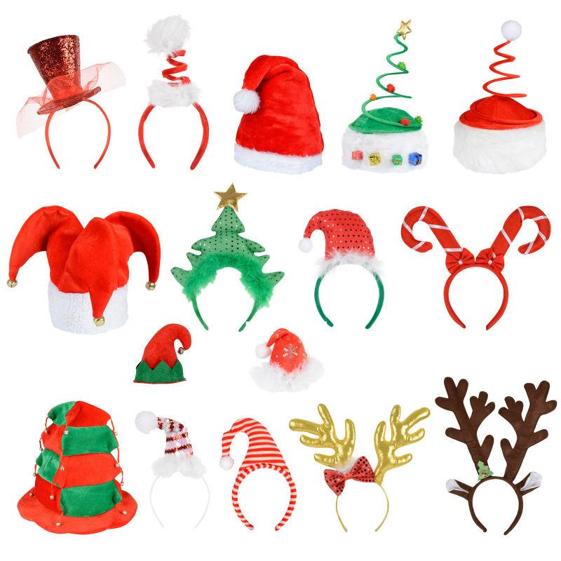 2016 Yiwu Fábrica de Navidad Diadema Hairband para Niños Adultos de Navidad Decoración