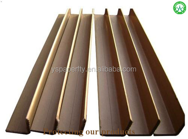 guanzhou edge paper manufacture kraft or white corner protector for grey board or black paper pallet