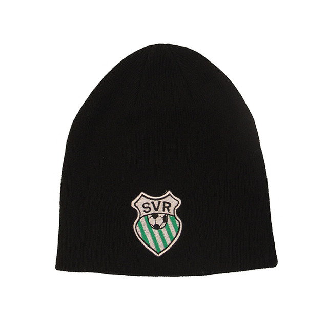 Custom men beanie knit winter hat running beanies hats with football  embroidered