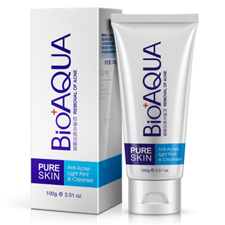 GMP OEM BIOAQUA skin whitening ance face wash oil-control deep cleansing face cleanser