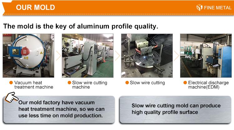 Personnalisé profil en aluminium d'extrusion de rail de rideau piste