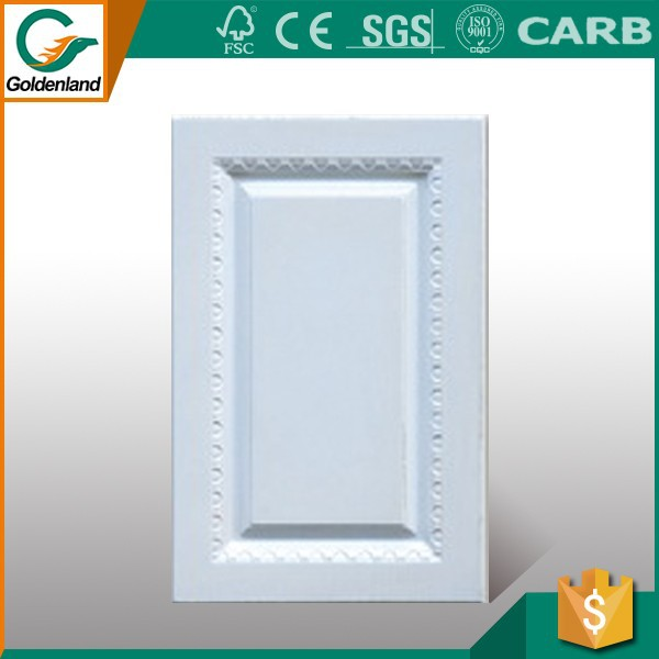 Cheap mdf kitchen cabinet door with pvc film