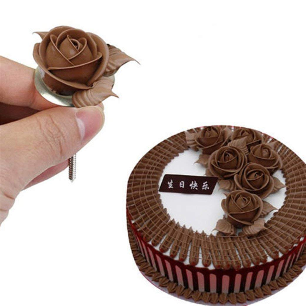 Rurah Cake Flower Nail Flower Decorating Nails Stainless Steel Cake Cupcake Decor Tools Baking Tools for Icing Flowers Decoration
