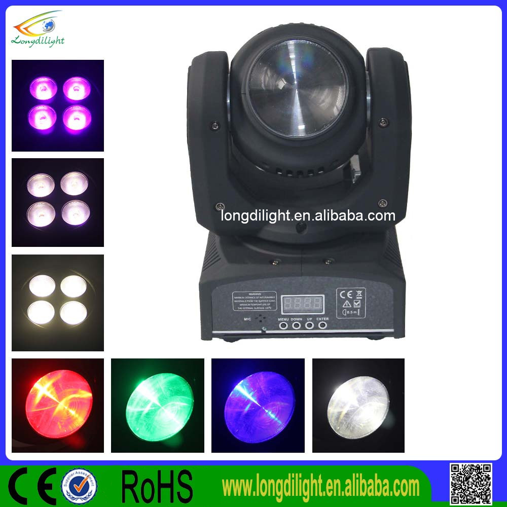 New double sided 4*10W RGBW beam led head light/fast moving
