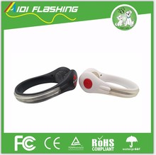 Popular led flashing light clip shoes safety clip for night running