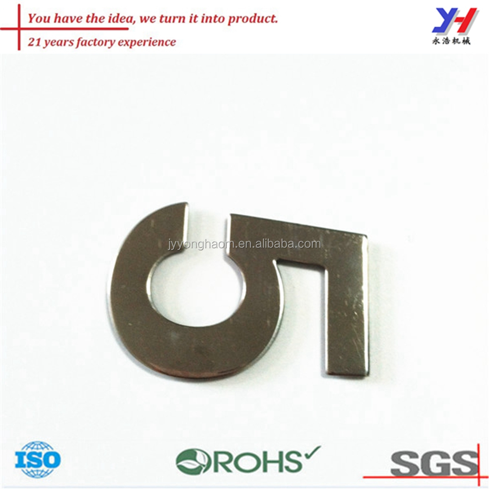 Customized anti-rust 3D stainless steel house number
