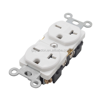 electrical material china USA standard socket 220vi outlet duplex female receptacle 20A receptacle outlets