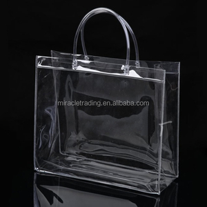 Factory price gift and shopping bags with handles customized pvc bag
