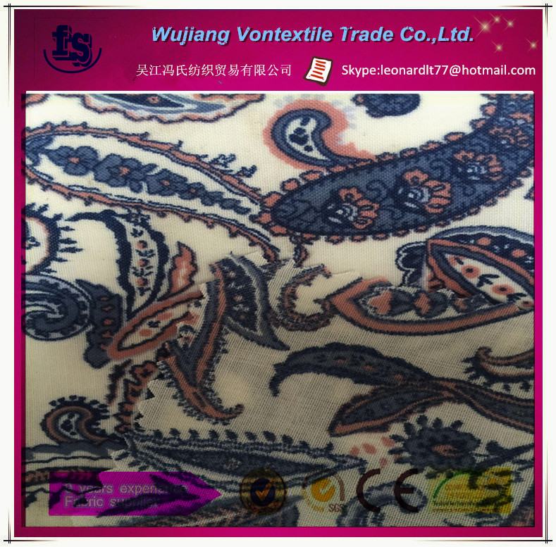 Factory price 40% cotton 60% polyester mixed fabric /customize digtal printed pattern cotton fabric for garemnt,dress,etc