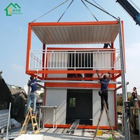 Good low cost coffee shop container house customizable prefabricated-container-house commercial container green house