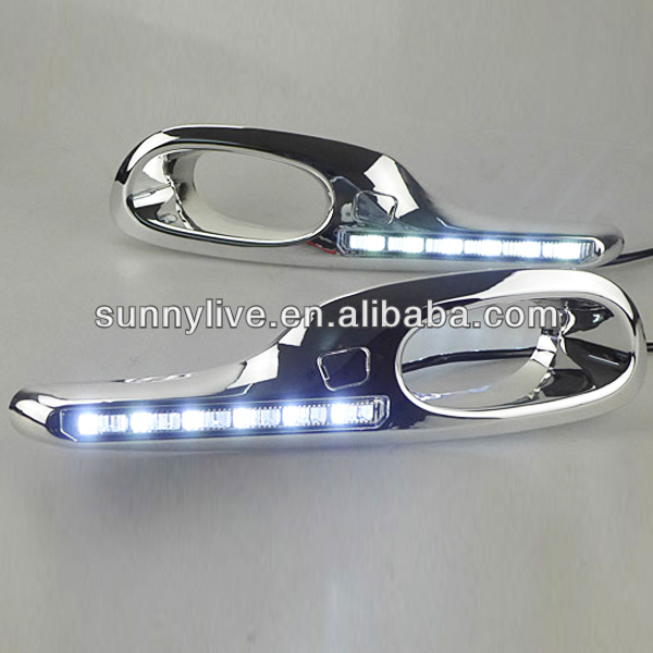 2011-2013 Year For HONDA Jazz For Fit LED DRL Daytime Running Light V1