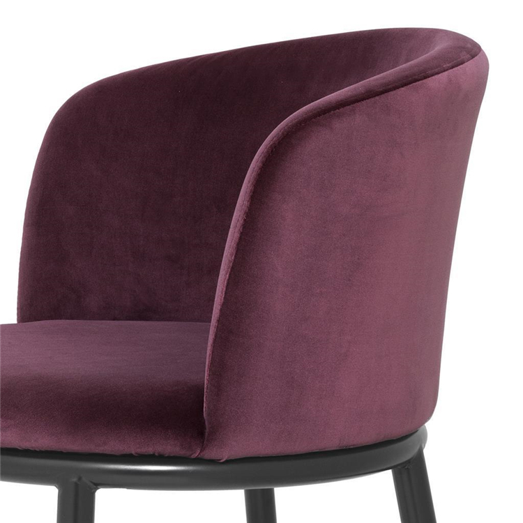 Contemporary teal mink french luxury dining room chair velvet