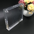 Square clear magnetic photo frame plastic acrylic block frames for picture wholesale