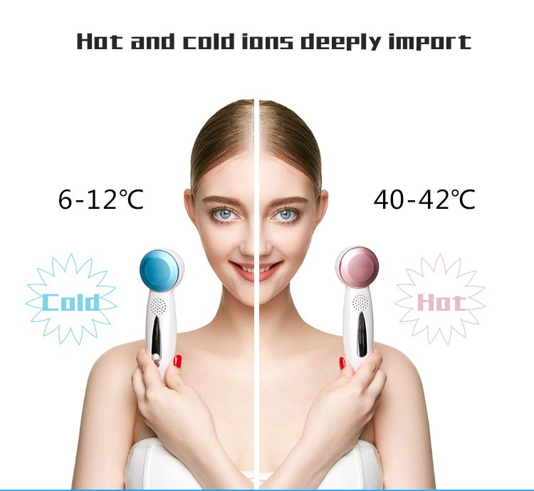 Hot Cold Face Beauty device multifunctional skin care korean massage