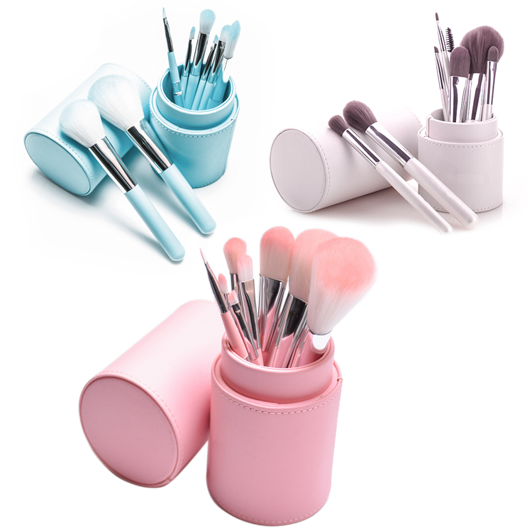 8 stks make-up borstel set 3 kleur cosmetische borstel kit selecteer aanpassen private label borstel