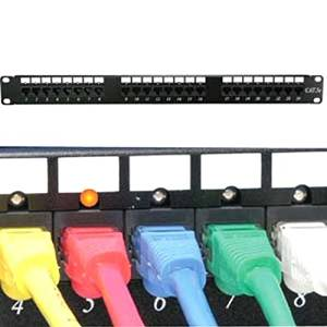 SF Cable, 24 Port CAT6 110 Patch Panel Rackmount w/LED Indicator