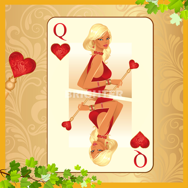 Cards naked playing girls of