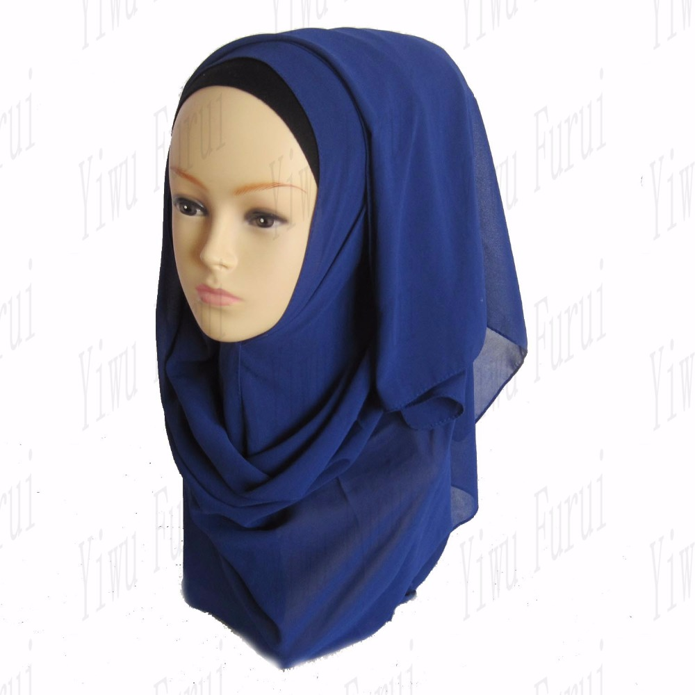 Yiwu wholesale muslim fashionable plain chiffon women scarf