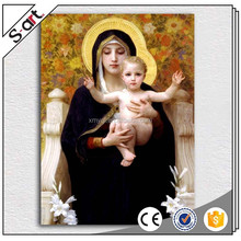 Famous mirgin mary and baby jesus christ oil painting