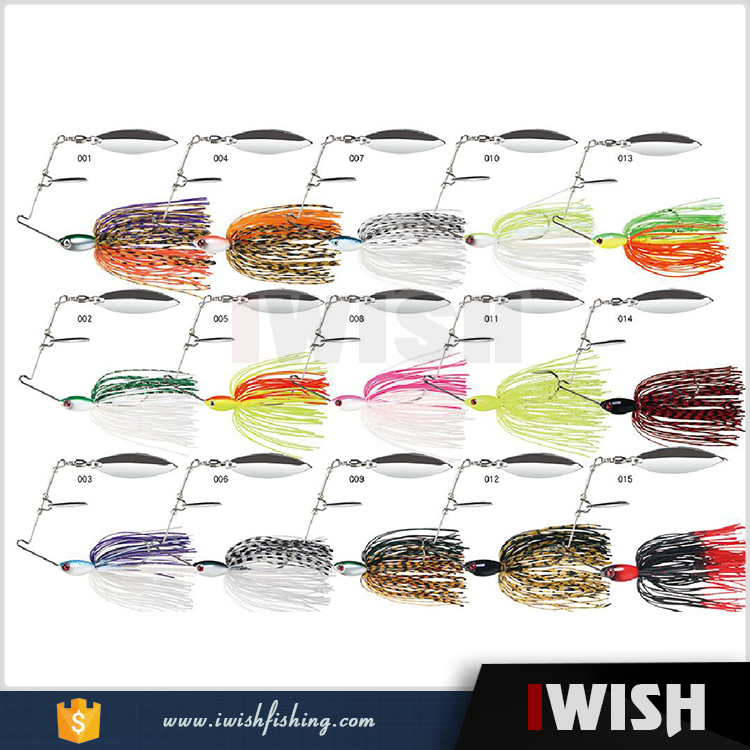 2017 Select The Right Lure Clear Water Or Musky Water Fishing Spinner Bait For Bass