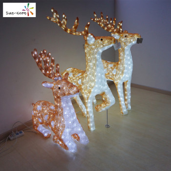 cheap white deer decor life size christmas decorative beautiful deer with lights