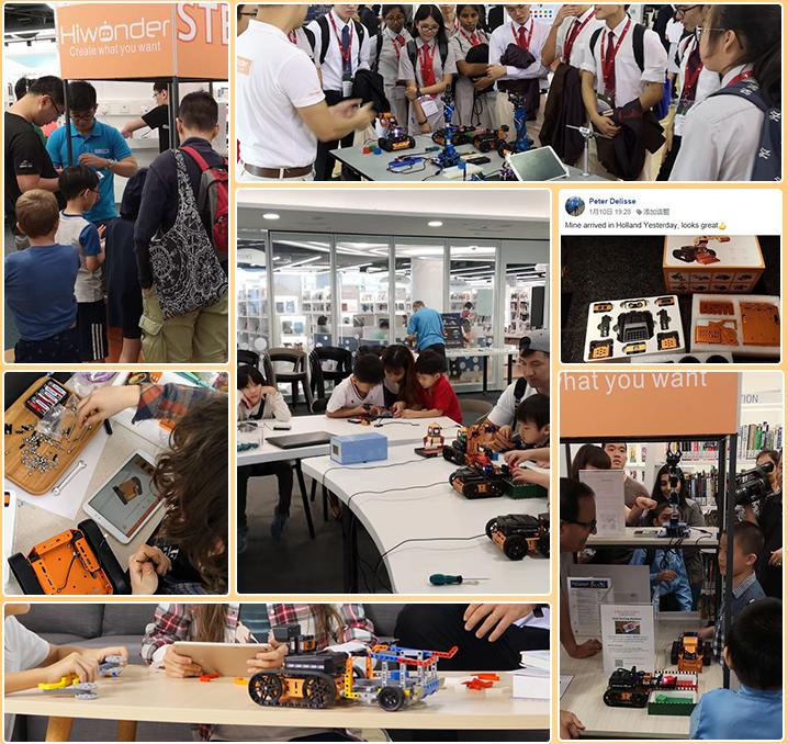Ensemble éducatif de soutien-gorge programmable Hiwonder Robot avec logique / PC / scie, servo et soutiens-gorge en métal