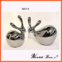 3657-S Love Pair of Ceramic Rabbit Home Decoration / Present
