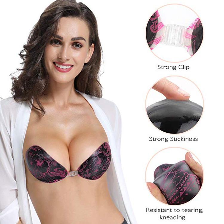 Adhesive Bra Strapless Sticky Invisible Push Up Silicone Bra For Backless Dress