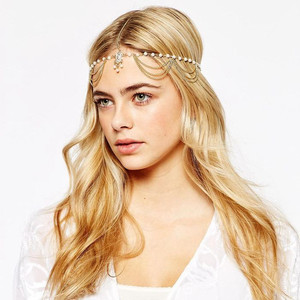 Fashion hair accessories chain/india head jewelry/head piece jewelry