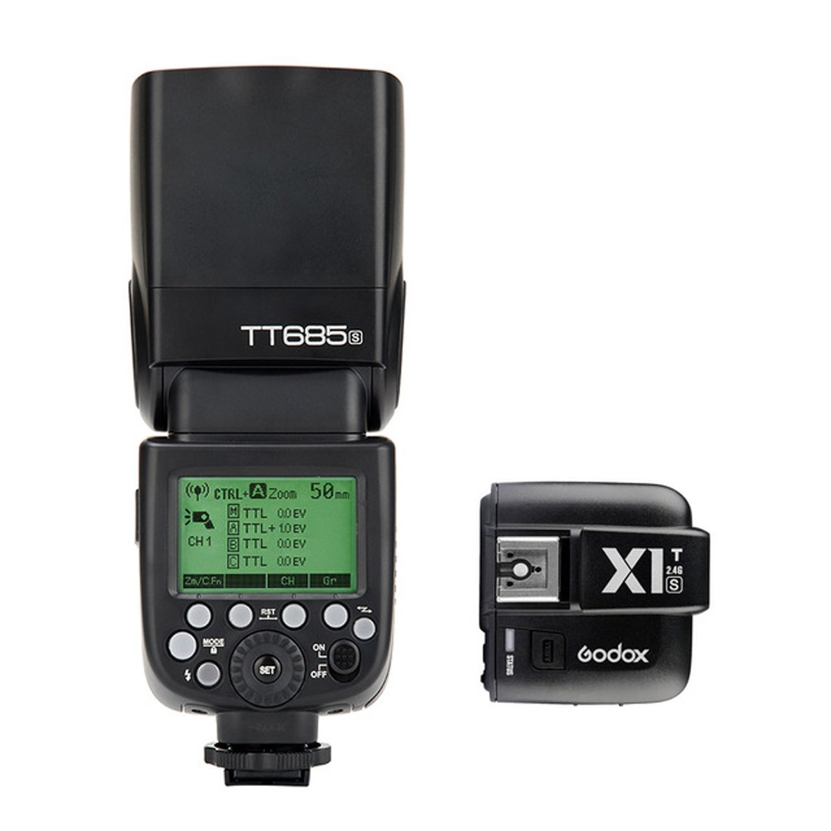 Godox TT685S 2.4G HSS TTL GN60 Flash Speedlite + X1T-S Wireless Trigger Transmitter for Sony