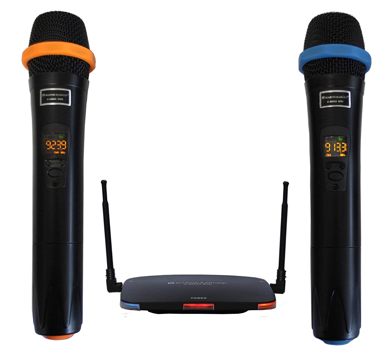 Martin Ranger U6800R-MINI Smallest UHF Wireless Microphone System in the world with 32 Selectable channels and Plug-in USB Rechargeable Lithium Battery