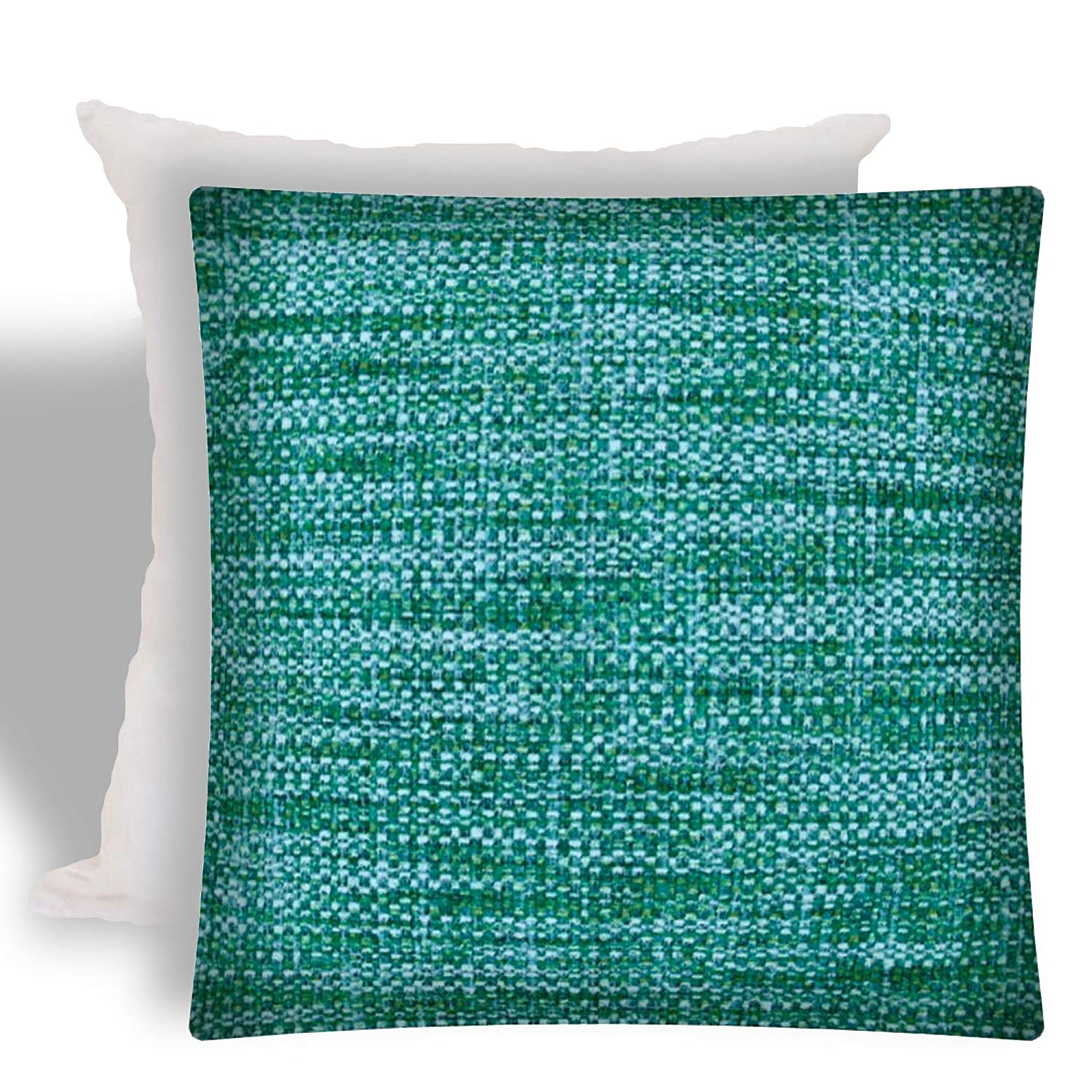 Joita Home BOHO SEA Aqua Indoor/Outdoor - Zippered Pillow Covers with Inserts (Set of 2)