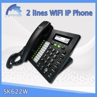 2 channel wifi ip phone Can connect to SIP1 and SIP2 server at the same time