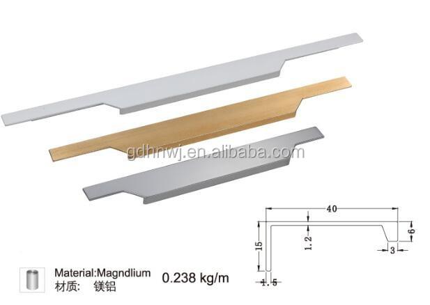Invisible poign e en aluminium profil pour meubles de - Poignee de porte pour meuble de cuisine ...
