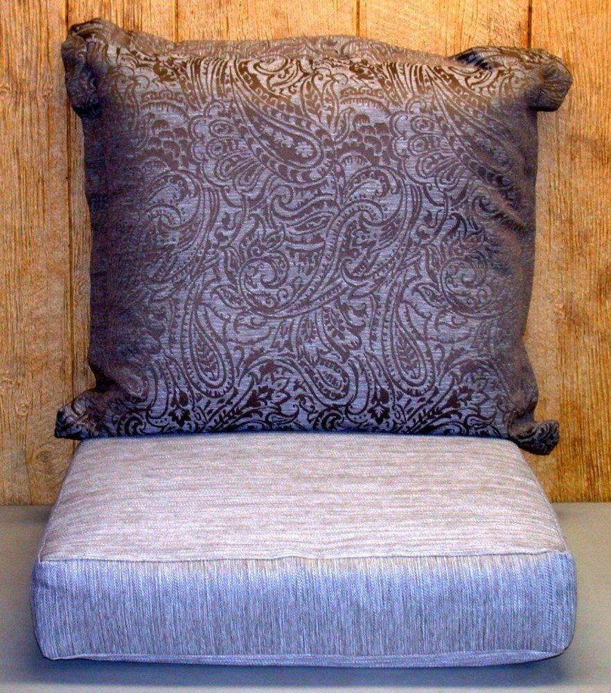 Buffaloe Creek Sales Outdoor Deep Seat Cushion Set ~ Paisley Brown ~ Back 24x23x6 / Seat 24x24x5.5
