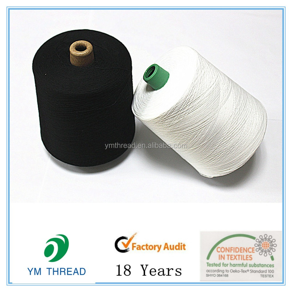 Raw 100% polyester spun yarn 30/1 for apparel fabric knitting