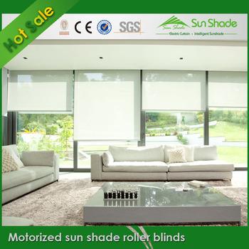 Motorized Sun Shade Roller Blind/Electric Sun Shade Roller Blind/Auto Sun  Shade Roller