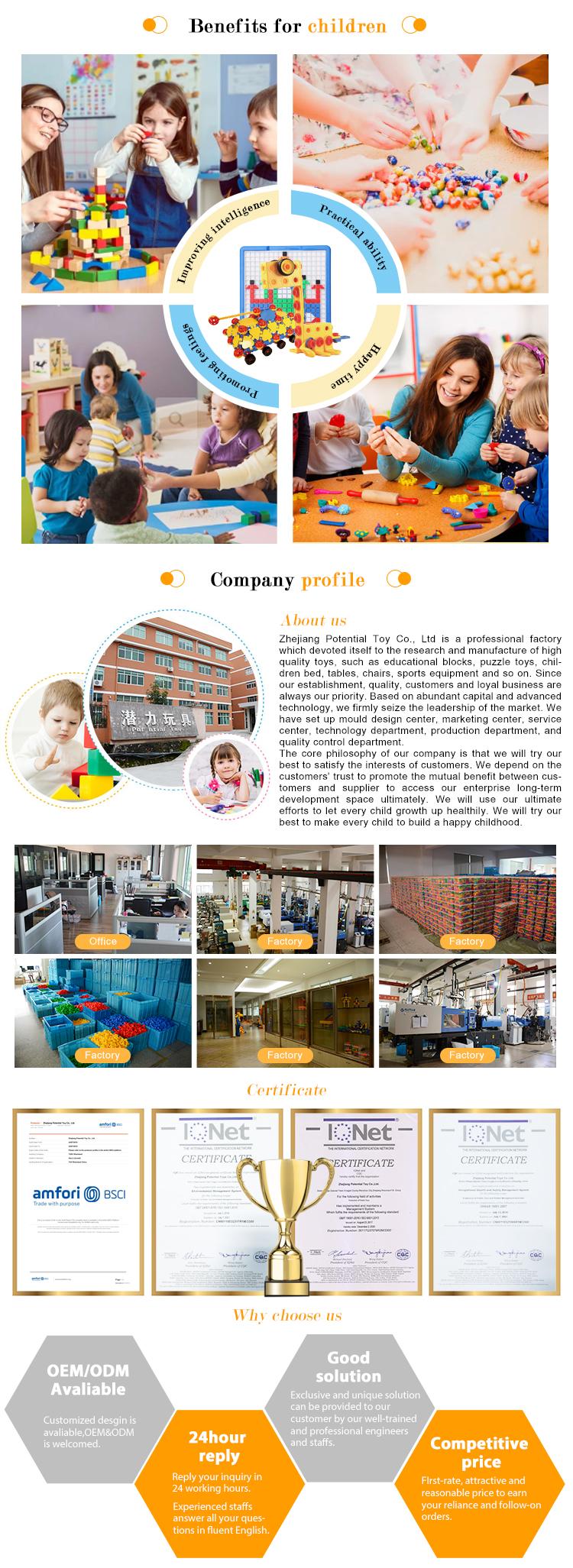 BRICOLAGE éducatif enfants en plastique coloré blocs de construction puzzle tuyau reliant des jouets