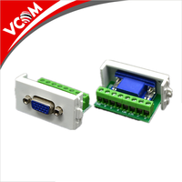 High quality 86 type 3 ports 3.5 audio RCA blank module faceplate wall mount HDMI and VGA face plate
