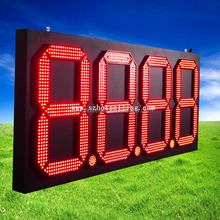 led gas station display large outdoor digital clock Led digital gas price board