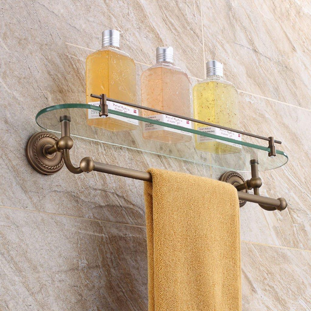 Bathroom Shelves Bathroom Shelf Full Copper American Antique Bathroom Shelf Bathroom Towel Shelf Glass Make-up Bath Bathroom Bathroom Shelf Bathroom racks