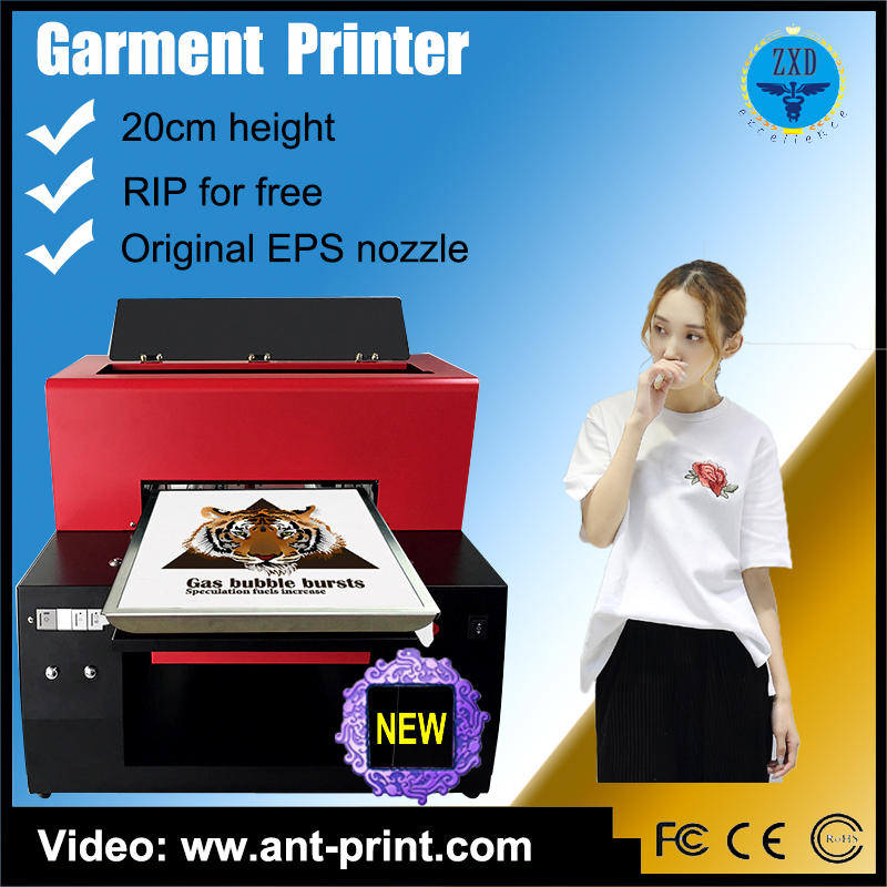A3/A4 Size Flatbed dtg Garment Printer for tshirt Printing Machine Digital Low Price