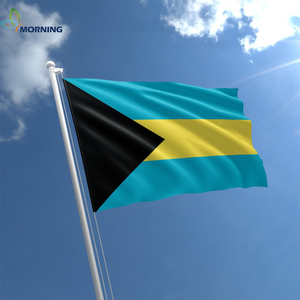 Super quality satin fabric glitter color print Bahamas flag