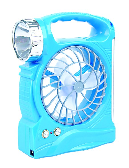 YAJIA light YJ 5867F solar USB rechargeable stand 9 inch fan with led light